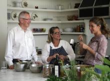 Em ordem (a partir da esquerda): Andrew Steer, Susan Ryan e Gisele Bündchen. (Foto: Lauren Zelin/WRI)
